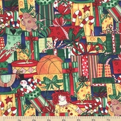 Here Comes Santa Toys Cotton Fabric