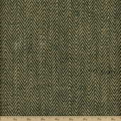 Herringbone Burlap Fabric - Hunter Natural
