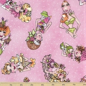 Hey Cupcake Cotton Fabric - Pink