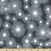 High Tide Cotton Fabric - Sea Stars - Grey 5933-B