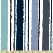 High Tide Cotton Fabric - Stripe - Blue 5932-B