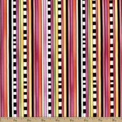 Hip Happier Stripe Cotton Fabric - Pink