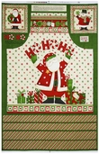 Ho-Ho-Holiday Cotton Fabric - Apron Panel - Clearance