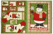 Ho-Ho-Holiday Cotton Fabric Panel - Multi 1862-67446-732