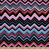 Hoffman Challenge 2014 - Anisa Chevron Cotton Fabric - Pink