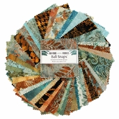 Hoffman Bali Snaps Batik Fabric Squares - Brown Sugar