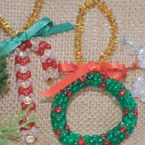 Holiday Beaded Ornaments