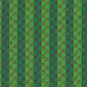 Holiday Charms Stripe Cotton Fabric - Green - CLEARANCE