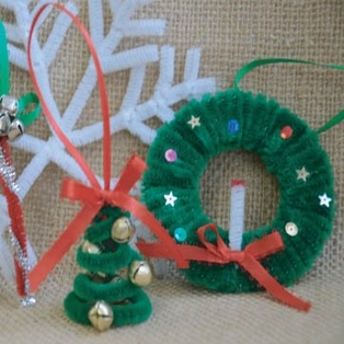 Holiday Chenille Stem Ornaments