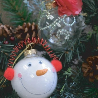 Holiday Clear Glass Ornaments