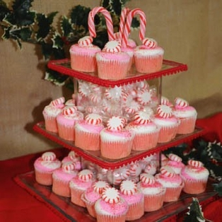 Holiday Cupcake Tower