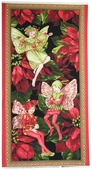 Holiday Fairies Cotton Fabric Panel