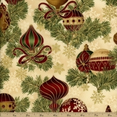 Holiday Flourish 6 Ornaments Cotton Fabric - Holiday