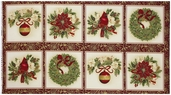 Holiday Flourish 6 Panel Cotton Fabric - Holiday