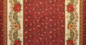 Holiday Flourish Wide 7 Metallic Cotton Fabric - Holiday