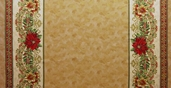 Holiday Flourish Wide 7 Metallic Cotton Fabric - Natural