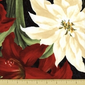 Holiday Treasures Cotton Fabric - Large Floral - Multi-Color
