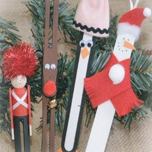 Holiday Wooden Ornaments