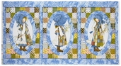 Holly Hobby Cotton Fabric Panel - Blue