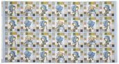 Holly Hobby Frames Panel Cotton Fabric - Blue