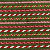 Holly Jolly Christmas Cotton Fabirc Candy Cane Stripe - EverGreen