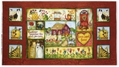Home Sweet Home Panel Cotton Fabric - Red