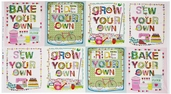Homegrown Do It Yourself Cotton Fabric Panel - White