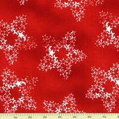 Honor and Glory Stars Cotton Fabric Stars - Red