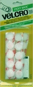 VELCRO� brand Hook and Loop Sticky Back Coins 5/8in White