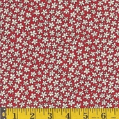 Hopscotch Cotton Fabric - Red - Clearance