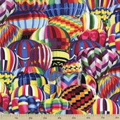 Hot Air Balloons Cotton Fabric - Multi