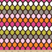 Hot Chocolate Cotton Fabric - Diamonds