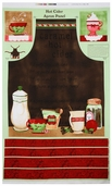 Hot Cider Apron Panel Cotton Fabric
