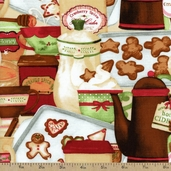 Hot Cider Packed Treats Cotton Fabric