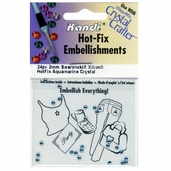 Hot-Fix Embellishments 2mm - Aquamarine - 3 Pkgs of 24
