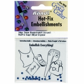 Hot-Fix Embellishments 2mm - Capri Blue - 3 Pkgs of 24