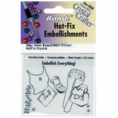Hot-Fix Embellishments 2mm - Crystal - 3 Pkgs of 24