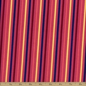 Hot House Stripe Cotton Fabric - Pink TD-24