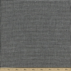 Houndstooth Cotton Fabric - 56 inch - Black WP-2551-1BLACK