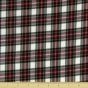 House of Wales Cotton Shirting Fabric - Plaid - Ivory