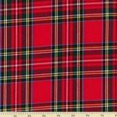 House of Wales Cotton Shirting Fabric - Plaid Red CUD-13043-3
