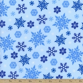 How The Grinch Stole Christmas 3 Snowflake Flannel Fabric - Cloud