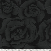 Hue Roses Cotton Fabric - Black 6562-BLACK
