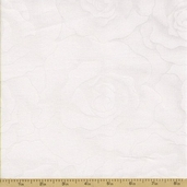 Hue Roses Cotton Fabric - White