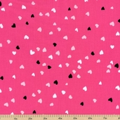 Hug Me Hearts Cotton Fabric - Hot Pink Y1078-42