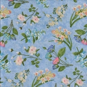 Hydrangea Radiance Cotton Fabric - Blue