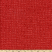 I Dream Of Paris Squares Cotton Fabric - Red