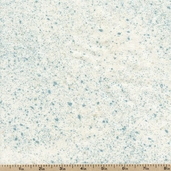 I Love Snow Speckles Flannel Fabric - White 5689-1