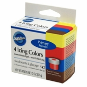 Icing Color Primary - 4 piece