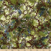 Imperial Fusions Katsumi Cotton Fabric - Floral Green EKJ-12572-7 GREEN